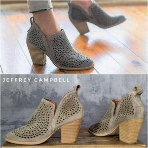 """Jeffrey Campbell """"Rosalee"""" suede ankle bootie 9.5"""